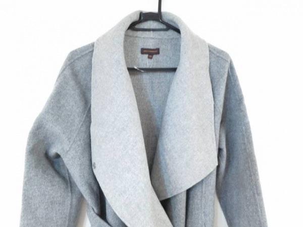 アドルフォドミンゲス コート サイズ36 S レディース美品  グレー 冬物