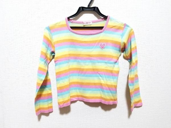 メゾピアノ 長袖Tシャツ サイズL レディース美品  ピンク×イエロー×マルチ