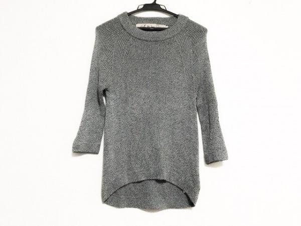 アイエルバイサオリコマツ 七分袖セーター サイズ38 M レディース美品
