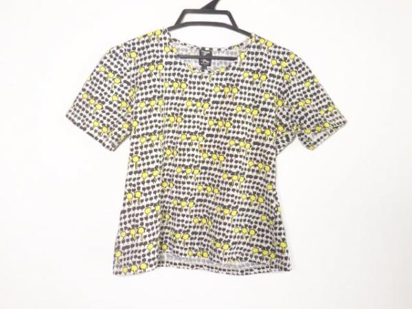 トリコシック 半袖Tシャツ レディース美品  白×ダークグリーン×イエロー