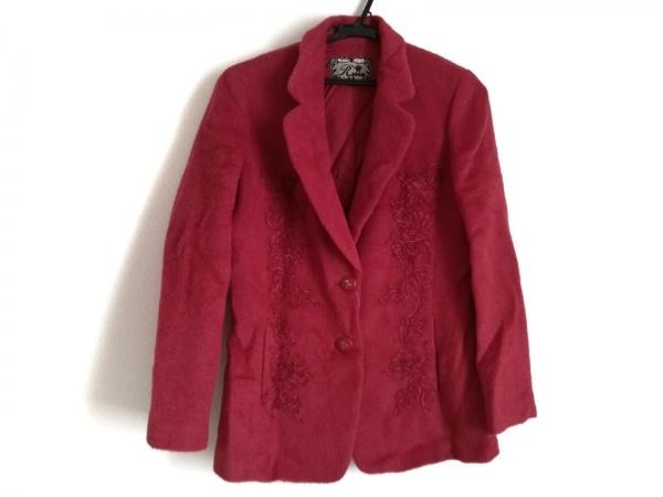 ROSSA(ロッサ) ジャケット サイズ42 L レディース美品  レッド ニット