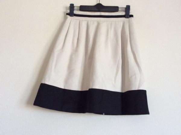 ダイアグラム スカート サイズ36 S レディース アイボリー×黒