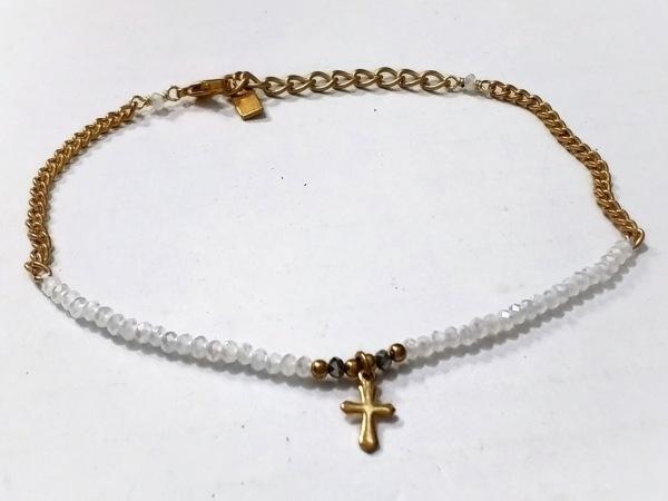 チャンルー ブレスレット美品  カラーストーン×金属素材 白×ゴールド×シルバー