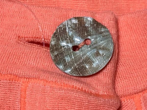 ハート カーディガン サイズ2 M レディース オレンジ シェルボタン/五分袖