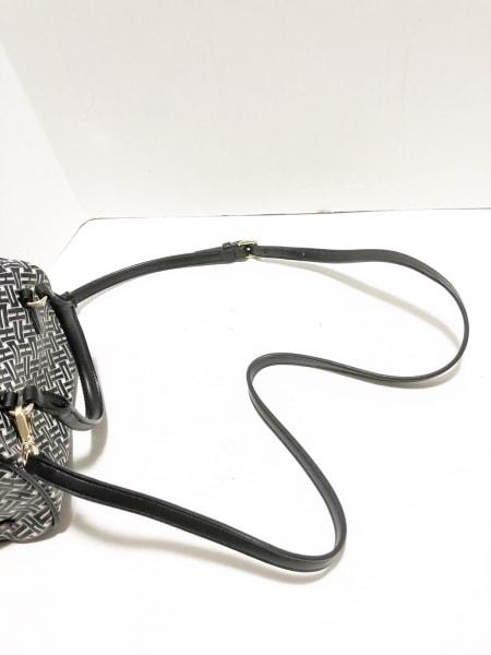 COLE HAAN(コールハーン) ハンドバッグ 黒×白×グレー ミニボストン レザー
