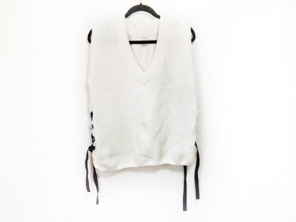 オープニングセレモニー ノースリーブセーター レディース美品  白×黒