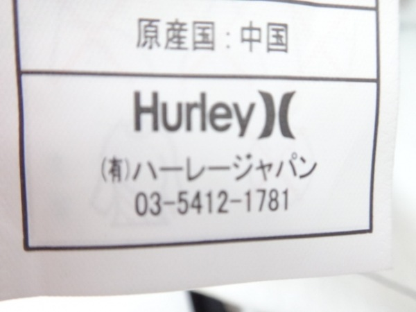 Hurley(ハーレー) リュックサック ボルドー×黒 チェック柄 キャンバス