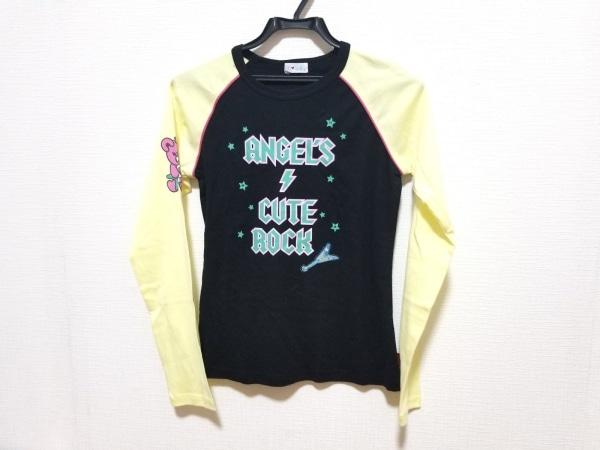 エンジェルブルー 長袖Tシャツ サイズL レディース美品  黒×イエロー×マルチ