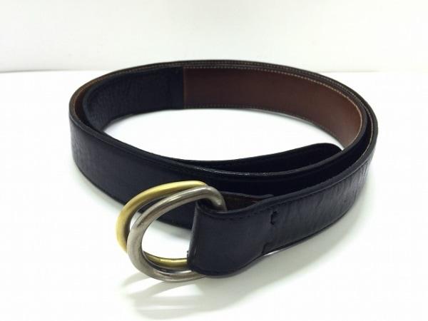 PREDIBINO(プレディビーノ) ベルト 90/105 黒×ゴールド×シルバー レザー×金属素材