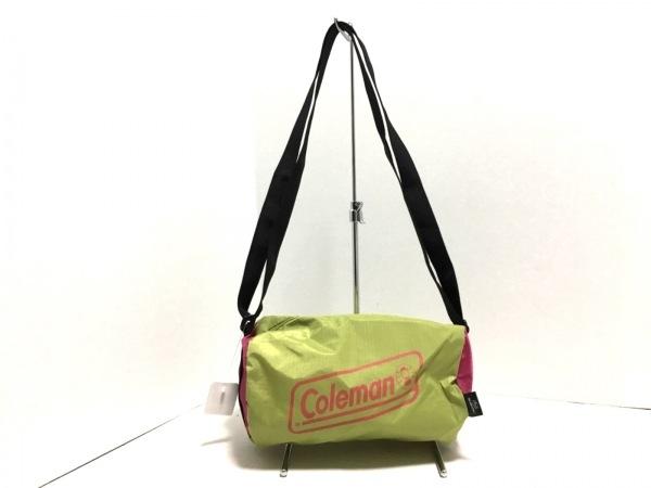 Coleman(コールマン) ショルダーバッグ美品  ライトグリーン×ピンク×黒 ナイロン