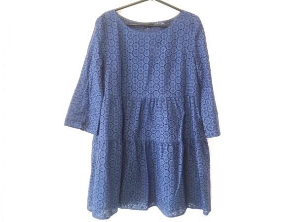 TABASA(タバサ) ワンピース サイズ36 S レディース ブルー 花柄/刺繍