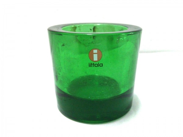 iittala(イッタラ) 小物 グリーン キャンドルホルダー/marimekko ガラス