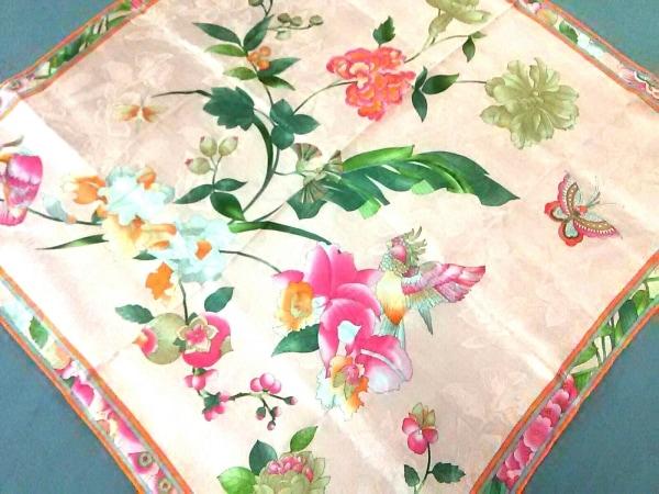 LEONARD(レオナール) スカーフ美品  ピンク×グリーン×マルチ 花柄