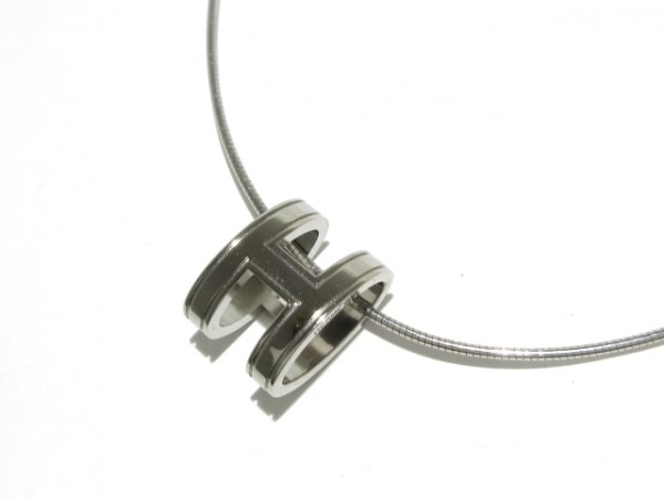 HERMES(エルメス) ネックレス美品  ポップアッシュ 金属素材 シルバー