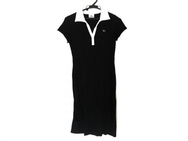 Lacoste(ラコステ) ワンピース サイズ38 M レディース美品  黒×白 ポロシャツワンピ