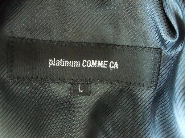 Platinum COMME CA(プラチナコムサ) コート サイズL レディース 黒 ファー/冬物