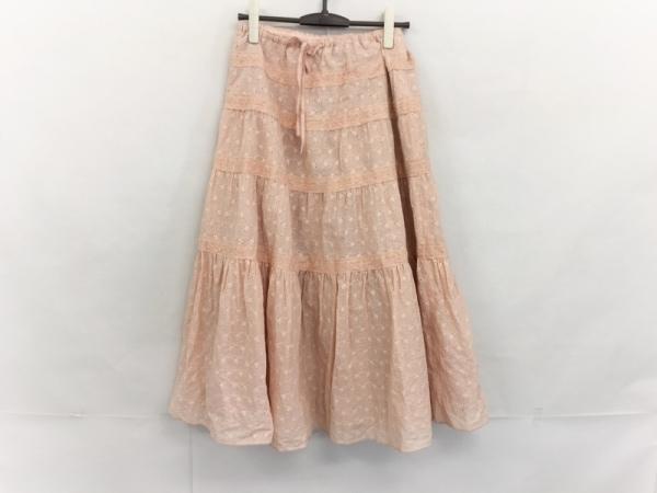 Toi et Bonbon(トワエボンボン) ロングスカート サイズF レディース美品  ベージュ
