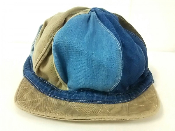 KAPITAL(キャピタル) 帽子美品  ブルー×マルチ デニム×コットン