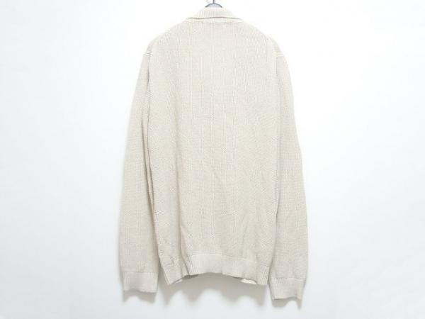 COMME CA MEN(コムサメン) ブルゾン サイズL メンズ ベージュ ニット/春・秋物