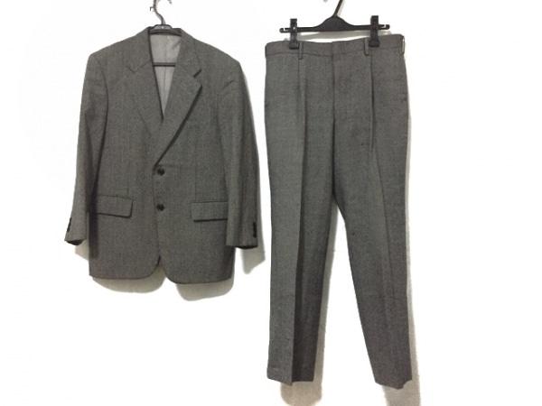 ドーメル シングルスーツ サイズ94AB4 メンズ美品  グレー×黒 イニシャル刻印