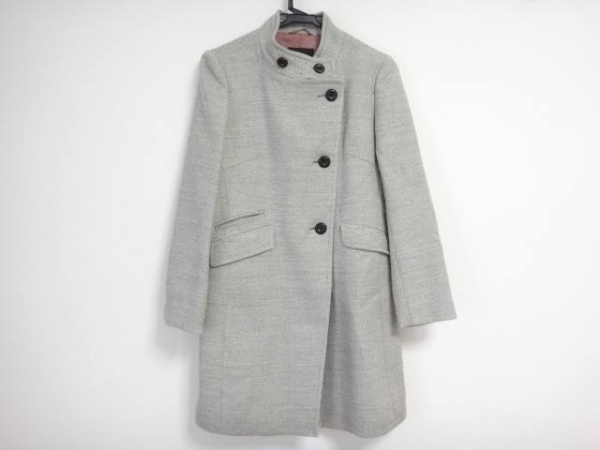 トゥモローランド コート サイズ38 M レディース グレー×アイボリー 冬物/collection