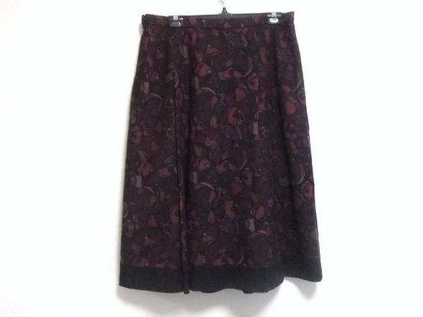 レリアン ロングスカート サイズ15 L レディース ピンク×黒×マルチ 千鳥格子