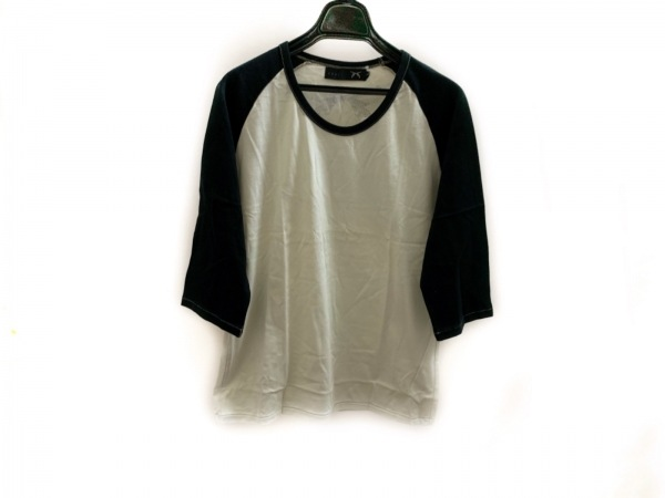 roar(ロアー) 七分袖Tシャツ サイズ3 L メンズ美品  アイボリー×黒