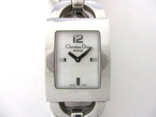 ディオール 腕時計 マリススクエア D78-109 レディース ホワイトシェル