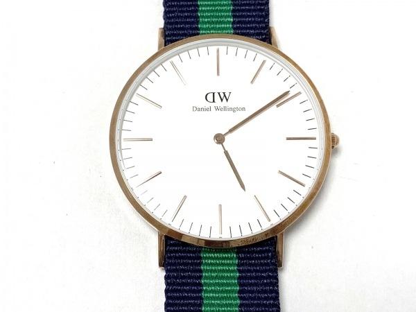 Daniel Wellington(ダニエルウェリントン) 腕時計美品  - レディース 白
