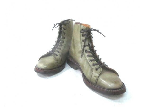 Tricker's(トリッカーズ) ショートブーツ 3 1/2 メンズ ライトグリーン レザー
