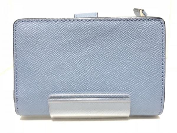 f18e1e540c9d COACH(コーチ) 2つ折り財布 - F11484 ブルー レザーの中古 | COACH ...