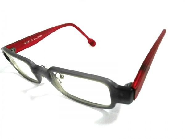 アンバレンタイン メガネ 1044M クリア×グレー×レッド プラスチック×金属素材