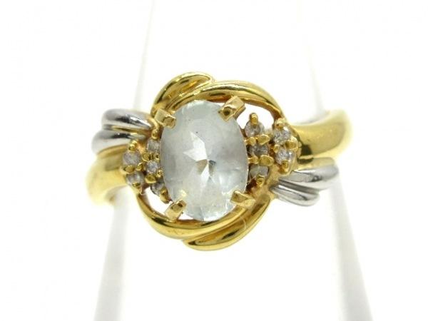 ノーブランド リング K18×Pt900×ダイヤモンド クリア 総重量3.6g/007刻印