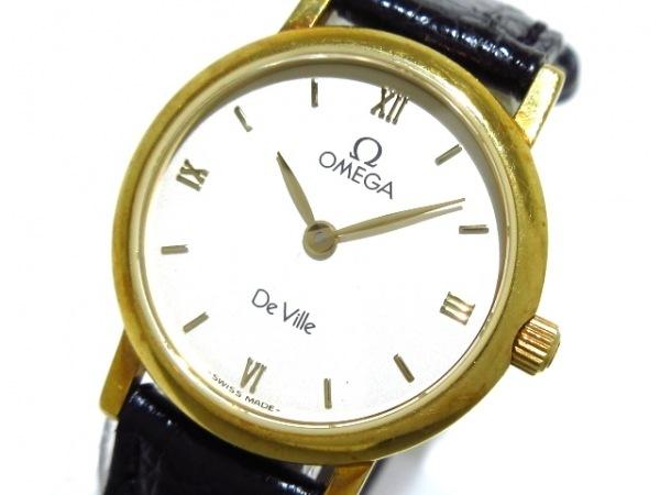 OMEGA(オメガ) 腕時計 デビル - レディース 革ベルト/K18YG アイボリー
