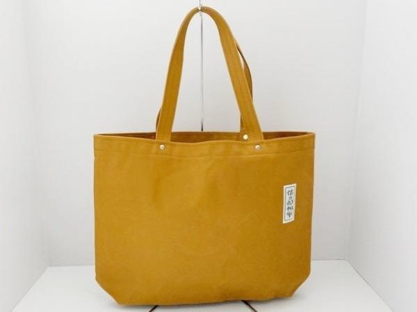 一澤信三郎帆布(イチザワシンザブロウハンプ) トートバッグ美品  ブラウン キャンバス