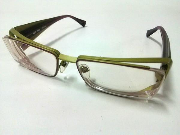 alain mikli(アラン・ミクリ) メガネ A0520-15 ボルドー×ダークグリーン 度入り