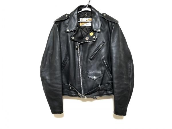 ショット ライダースジャケット サイズ38 M メンズ 黒 perfecto by schott/レザー