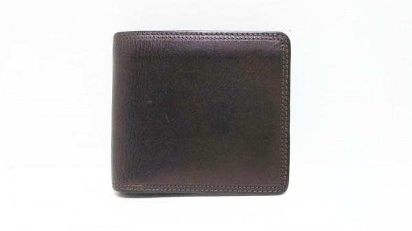 CORBO(コルボ) 2つ折り財布 ダークブラウン レザー