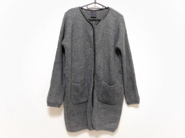 FIGARO(フィガロ) コート レディース美品  グレー×黒 ニット/冬物