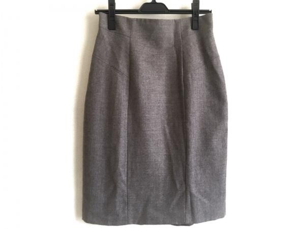 Max Mara(マックスマーラ) スカート サイズ36 S レディース グレーベージュ×マルチ