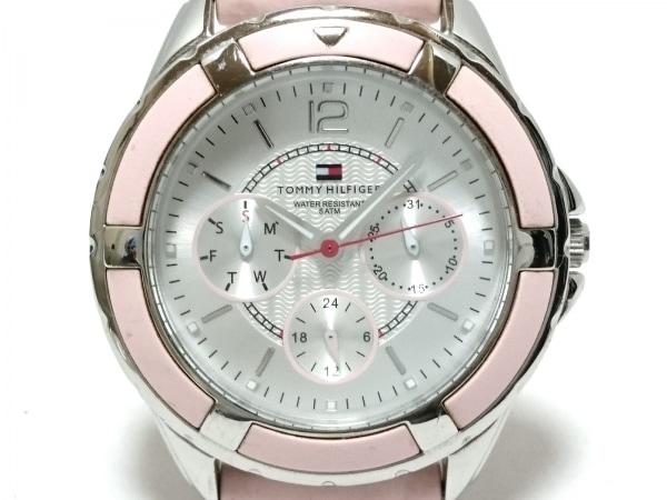 トミーヒルフィガー 腕時計 TH.47.3.14.0709. レディース ラバーベルト シルバー