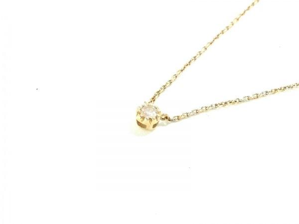 スタージュエリー ネックレス美品  K18YG×ダイヤモンド 1Pダイヤ/0.05カラット