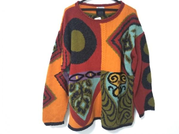 FICCE(フィッチェ) 長袖セーター メンズ レッド×マルチ