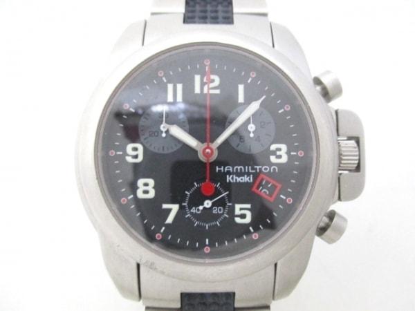 HAMILTON(ハミルトン) 腕時計美品  6313 メンズ トリプルカレンダー 黒