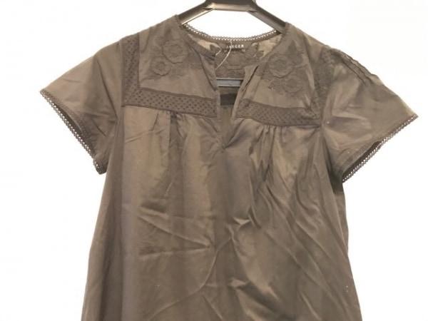 JAEGER(イエガー) ワンピース サイズ8 M レディース美品  黒 フラワー/刺繍/レース