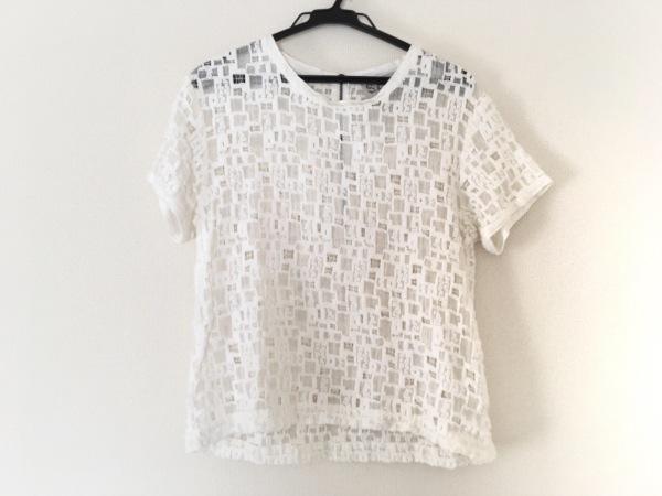 sea(シー) 半袖セーター サイズ2 M レディース美品  白 レース