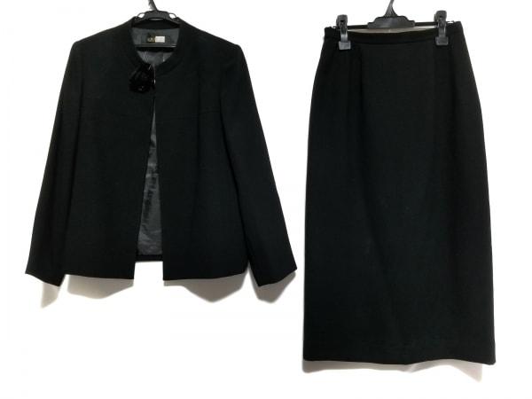ソワールベニール スカートスーツ サイズ13 L レディース 黒 インナー付き3点セット
