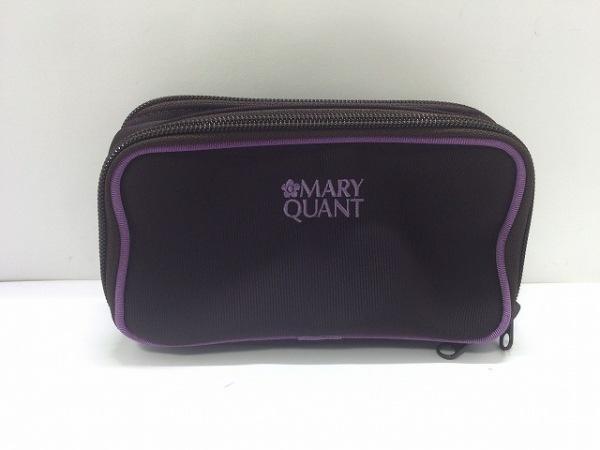 MARY QUANT(マリークワント) ポーチ美品  ダークブラウン×パープル ナイロン