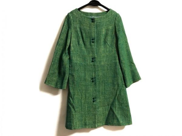 Sybilla(シビラ) コート サイズL レディース グリーン×ライトグリーン 冬物