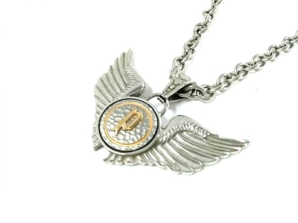 POLICE(ポリス) ネックレス美品  金属素材 シルバー×ゴールド